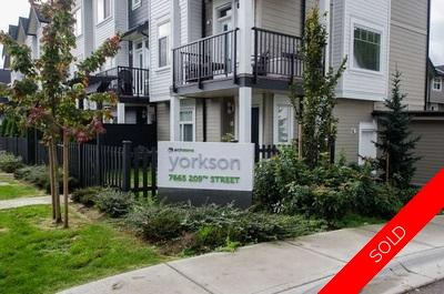 Willoughby Heights Townhouse for sale: Yorkson 4 bedroom 1,692 sq.ft. (Listed 2018-01-15)